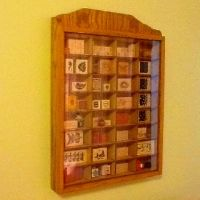 Rubber stamp storage in cabinet made for Matchbox cars ...