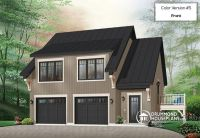 W3933 - Garage apartment house plan with 2 bedrooms, open ...