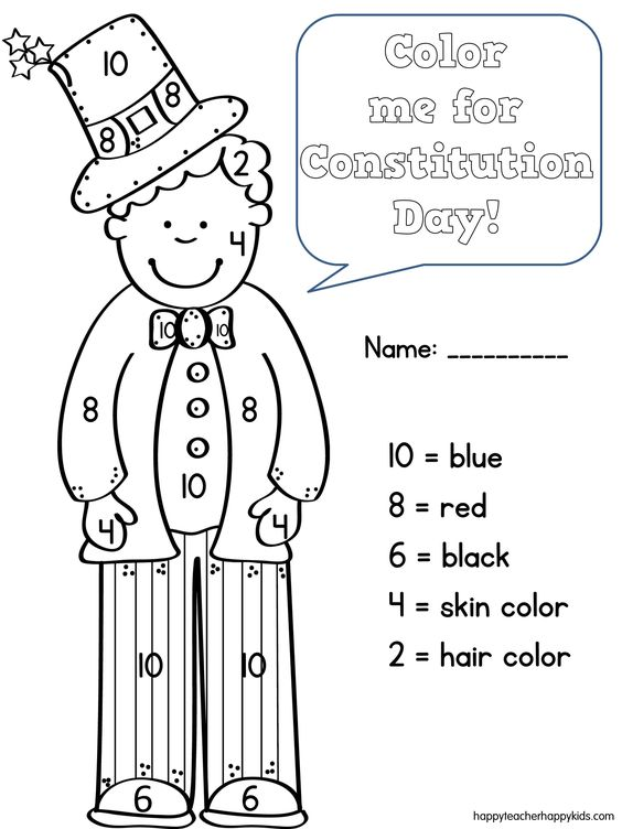 Constitution day, Constitution and Coloring on Pinterest