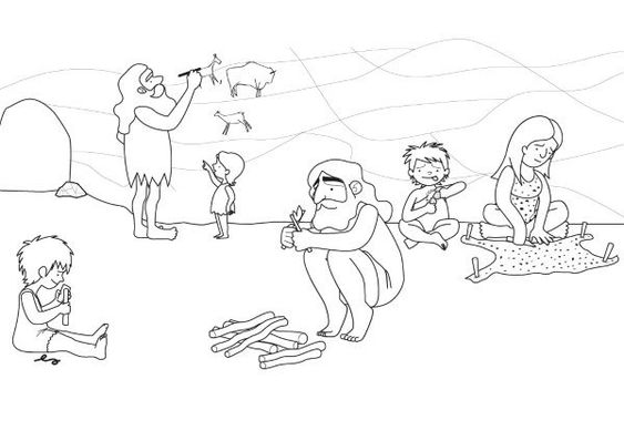 Coloring Pages Stone Age Man