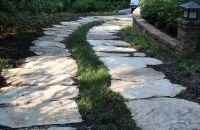 grass and flagstone path | Driveway Paving | Pinterest ...