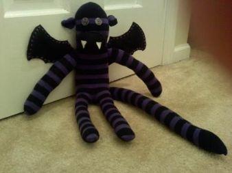 Vampire Sock Monkey.  Another new Halloween decoration.: