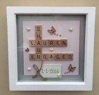 Details about BOX FRAME SCRABBLE LETTERS VALENTINE FAMILY ...