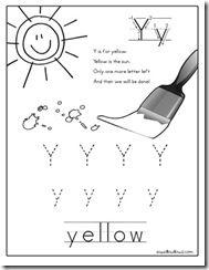 Worksheets, Yellow and Kindergarten on Pinterest