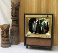 Tiki bars, Bar cabinets and Vintage tv on Pinterest