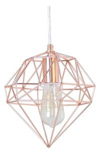 Hanging lamps, Rose gold and Gems on Pinterest