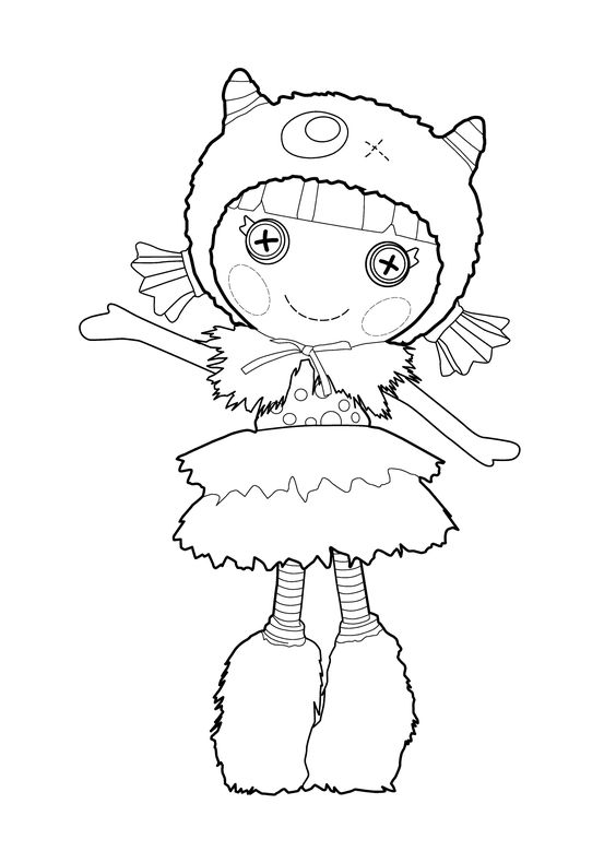 Lalaloopsy Doll coloring page for kids, printable free