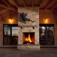 Indoor/Outdoor fireplace | Screened in porch | Pinterest ...