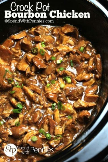 Easy Crock Pot Recipes You Have To Try Today | Best Easy Slow Cooker Recipe Ideas for the Crockpot Include beef stew, chili, chicken dinner dishes, soup and more | Slow Cooker Bourbon Chicken | http://diyjoy.com/crock-pot-recipes-slow-cooker-meals/: