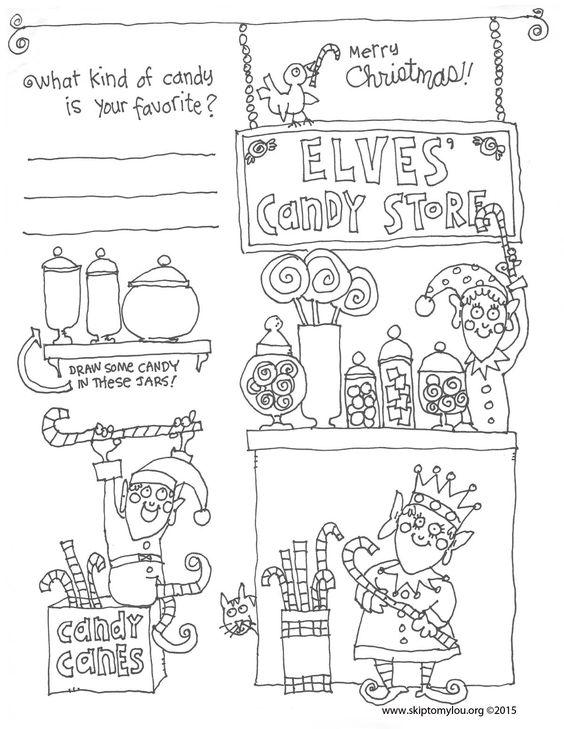 Free Printable Christmas Coloring Sheet to keep kids busy