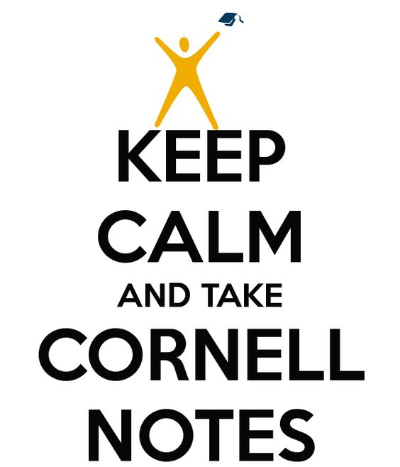 Cornell notes, Keep calm and Note on Pinterest