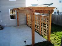 Decorative Pergola with Unique Privacy Fence