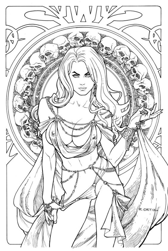 Lady Death: Regal Jewel Edition. Line Art. by Ric1975 on