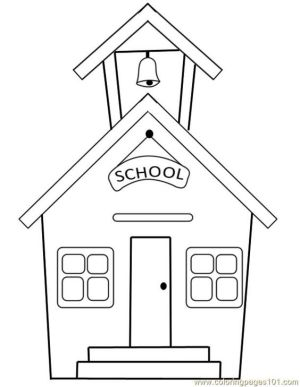 building coloring pages draw simple schools buildings google