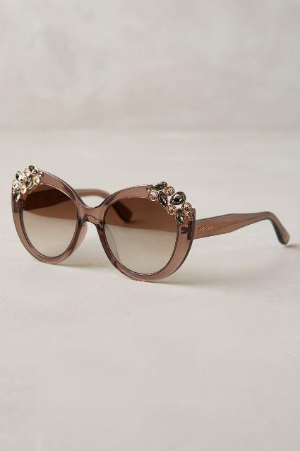 Jimmy Choo Megan Jeweled Sunglasses - anthropologie.com