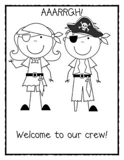 First day of school, Coloring and Pirates on Pinterest