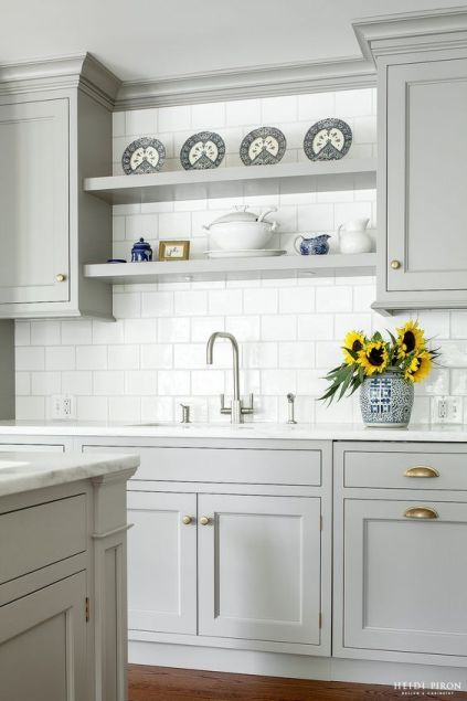 gray kitchen trend