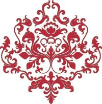 Baroque Style Damask Vinyl Wall Decal | stencil, stamp ...