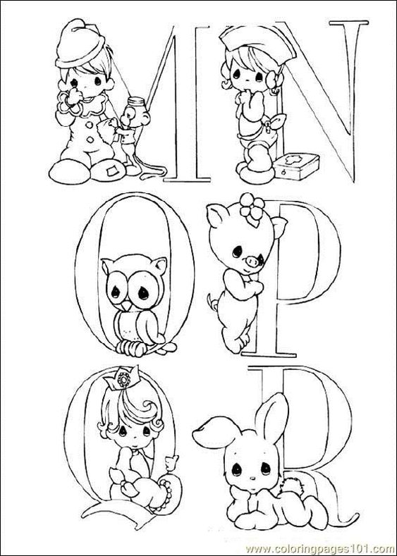 Coloring Pages Precious Moments (Cartoons > precious