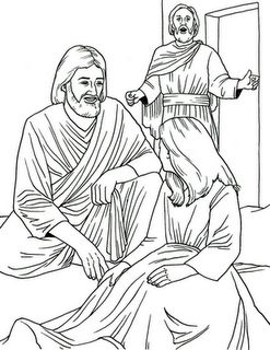 Jesus heals Jairus' daughter. Could use with http