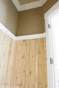Half Bath Update  Tile and Wood | The Lettered Cottage ...
