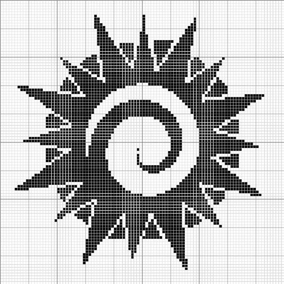Tribal sun, Sun and Cross stitch on Pinterest