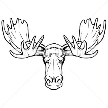 Moose, Clip art and Drawings on Pinterest