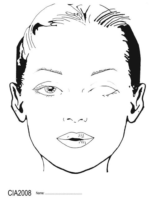 10 Blank Face Chart Templates (Male Face Charts and Female