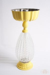 lamp & bundt pan birdbath | Garden Pretties | Pinterest ...