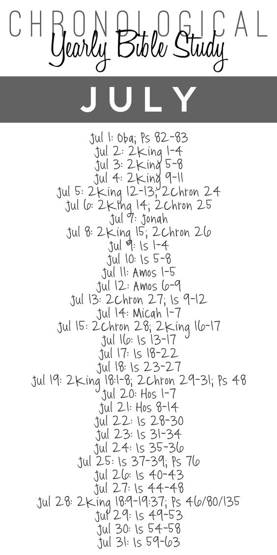 Yearly Bible Study — July {Free Printable Download