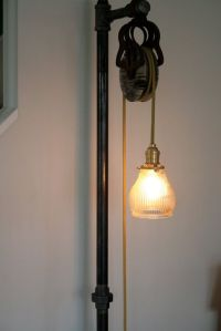 Floor lamps, Pulley and Industrial floor lamps on Pinterest