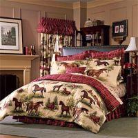 horse queen size bedding | Product: Kentucky Farm Horses ...