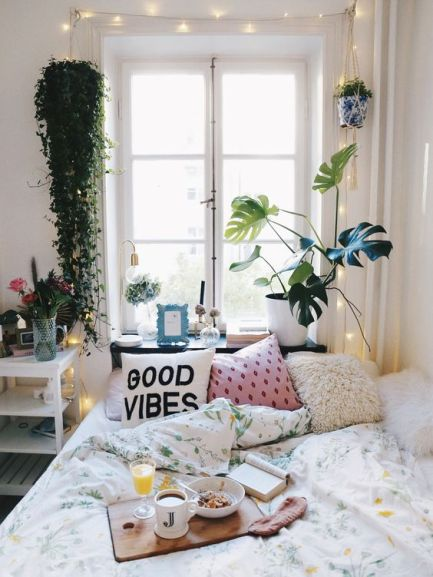 Artificial greenery is a great way to make your dorm fancy AF!