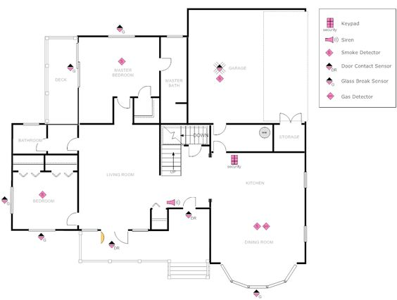 Electrical plan, House plans and Layout on Pinterest