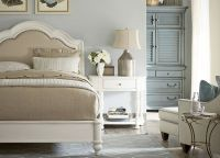 Bedrooms, Welcome Home Queen Sleigh Bed - Weathered White ...