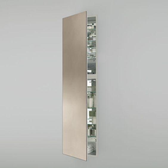 1914 x 70 x 4 full length cabinet in satin bronze