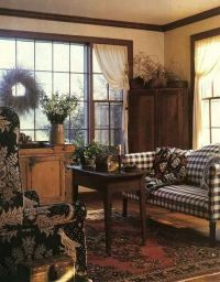 Americana living rooms, Gingham and Living rooms on Pinterest