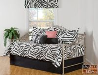 Mombasa black and white daybed bedding features a abstract ...