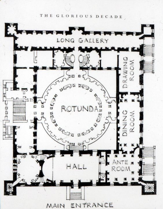 Robert Adam. Plan, Syon House. Middlesex, England 1762-63