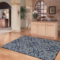 NEW MEDALLION MODERN AREA RUG GREY BLUE NAVY SILVER Living ...