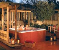 Patio : Patio With Hot Tub | hot tubs in nice settings ...