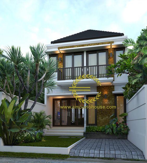 Desain Rumah 2 Lantai 3 kamar Lebar Tanah 6 meter dengan ukuran Tanah 1 are100m2  Desain Rumah