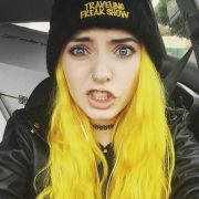 yellow hair color and manic
