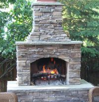 Fireplaces, The shape and Outdoor fireplace kits on Pinterest