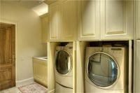 cabinetry shuts to conceal the washer/dryer when not in ...