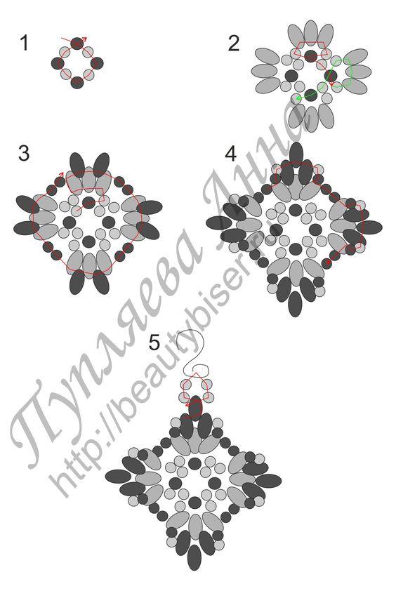 Beaded earrings, Twin beads and Bead earrings on Pinterest