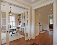 Love this open office with beautiful Craftsman trim. See ...