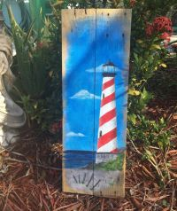 Lighthouse Painting Lighthouse Decor Lighthouse Wall Art ...