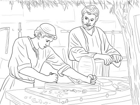 Young Christ Child and St. Joseph the Carpenter Catholic