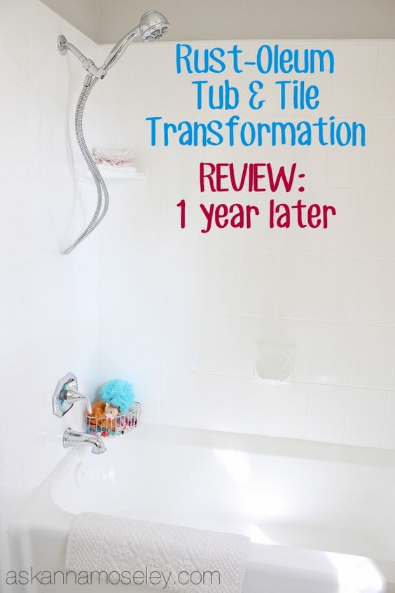 Video review of the RustOleum Tub  Tile Kit 1 year